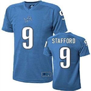 uk availability c3f0a 8481c Matthew Stafford Youth Detroit Lions Lt. Blue Poly Football ...