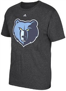 Memphis Grizzlies Adidas Charcoal Huge Preferred Logo Short Sleeve T Shirt