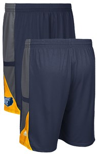Memphis Grizzlies Navy Core 3 Climalite Adidas Performance Shorts