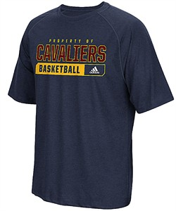 Men's Cleveland Cavaliers Performance Property Of Climalite Shirt-Heather Blue