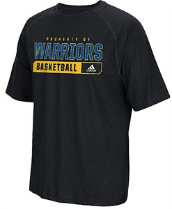 Men's Golden State Warriors Performance Property Of Climalite Shirt-Heather Black