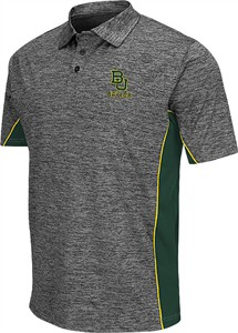 Mens Baylor Bears Heather Charcoal Chiliwear Synthetic Back Rush Polo Shirt