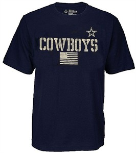 Mens Dallas Cowboys Blue Trooper Cotton Short Sleeve T Shirt