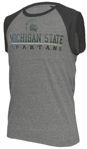 Mens Michigan State Spartans Heather Grey Trailhead Sleeveless T Shirt