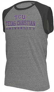 Mens TCU Horned Frogs Heather Grey Trailhead Sleeveless T Shirt