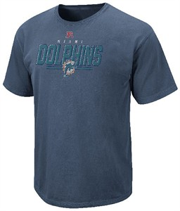 Miami Dolphins Vintage Roster II T Shirt by VF-Pigment Blue