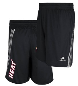 Miami Heat Black Tip Off Climalite NBA Performance Shorts by Adidas