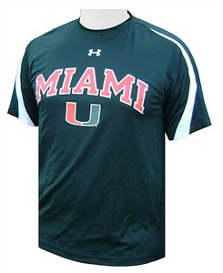 Miami Hurricanes Green Zone III Under Armour Shirt