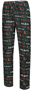Miami Hurricanes Men's Green Midfield Synthetic Pajama Pants