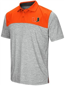 Miami Hurricanes Mens Alaska Woven Synthetic Polo Shirt