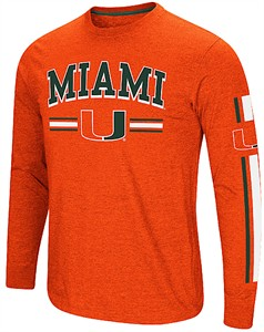 Miami Hurricanes Orange Colosseum Touchdown Pass Long Sleeve T Shirt