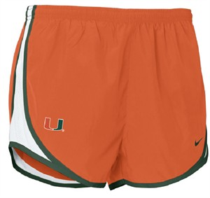 Miami Hurricanes Womens Dri-FIT Tempo Running Shorts By Nike