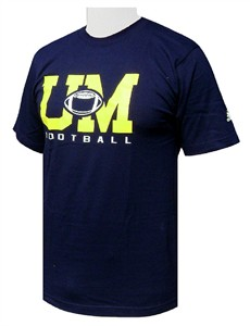 Adidas Michigan Wolverines Blue Sports Series T Shirt