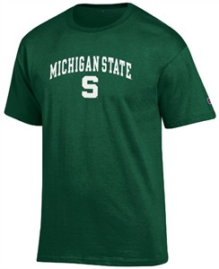 Michigan State Spartans Arched Stadium Short Sleeve T Shirt by Champion