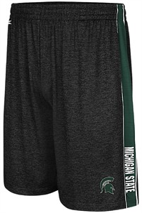 Michigan State Spartans Black Mens Wicket Synthetic College Shorts