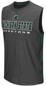 Michigan State Spartans Charcoal Colosseum Architect Synthetic Sleeveless T Shirt
