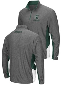 Michigan State Spartans Charcoal The Executive Pullover Synthetic Windshirt