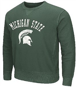 Michigan State Spartans Drive Crew Neck Sweatshirt by Colosseum