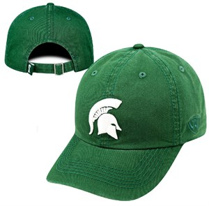 Michigan State Spartans Green Crew Relaxed Crown Crew Adjustable Hat