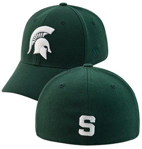 Michigan State Spartans Green Premium Collection One-Fit Memory Fit Cap