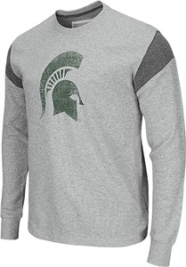 Michigan State Spartans Grey Avenger Waffle Long Sleeve T Shirt