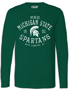 Michigan State Spartans Mens Essential Long Sleeve College Tee Shirt