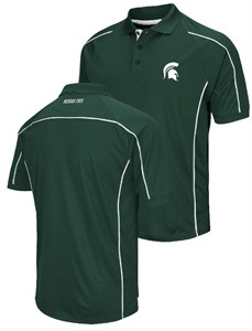 Michigan State Spartans Mens Green Chiliwear Synthetic Overtime Polo Shirt