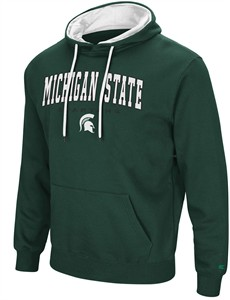 Michigan State Spartans Mens Green Zone 3 Embroidered Pullover Hoodie Sweatshirt