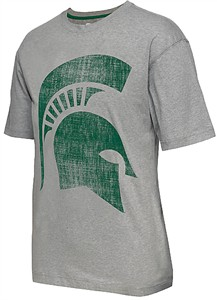 Michigan State Spartans Mens Grey Colossal Short Sleeve T Shirt by Colosseum
