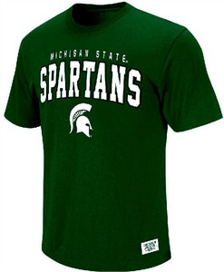 Michigan State Spartans Podium Green T Shirt by Colosseum