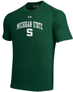 Michigan State Spartans Poly Dry HeatGear NuTech Performance Shirt by Under Armour