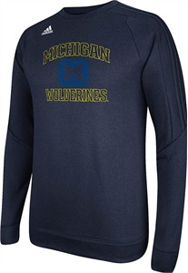Michigan Wolverines Adidas Climawarm Synthetic Ultimate Tech Crew