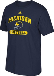 Michigan Wolverines Adidas Sport Arch Blue SS T Shirt