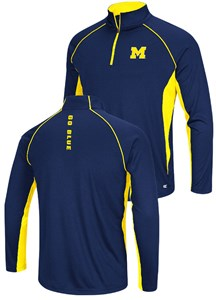 Michigan Wolverines Airstream Quarter Zip Pullover Synthetic Windshirt