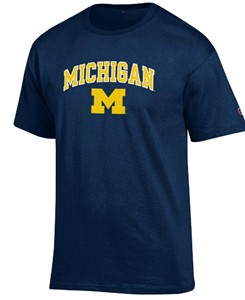 Michigan Wolverines Arched Stadium Short Sleeve T Shirt by Champion