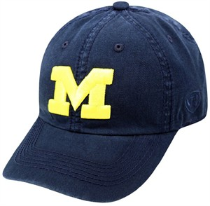 Michigan Wolverines Blue Crew Relaxed Crown Crew Adjustable Hat