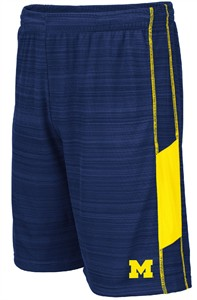 Michigan Wolverines Blue WeWak Synthetic Athletic Shorts