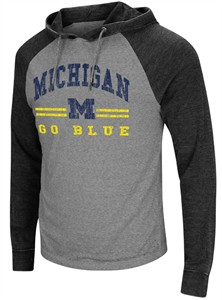 Michigan Wolverines Charcoal Personal Flair Hoodie Long Sleeve T Shirt