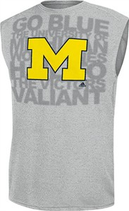 Michigan Wolverines Climalite Synthetic Sleeveless Shirt by Adidas