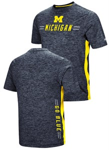 Michigan Wolverines Colosseum Designated Hitter Polyester T Shirt-Blue