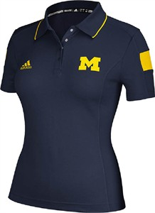 Michigan Wolverines Ladies Climalite Sideline Polo Shirt by Adidas