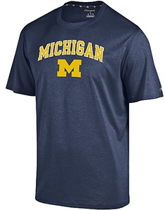 Michigan Wolverines Marine Navy Epic Synthetic Short Sleeve T Shirt