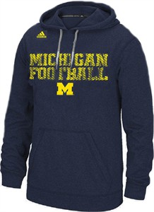 Michigan Wolverines Mens Blue All American Synthetic Hoodie by Adidas