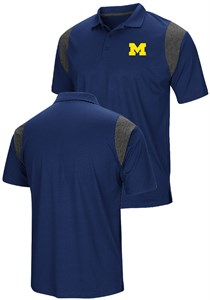 Michigan Wolverines Mens Blue Friend Colosseum Polo Shirt