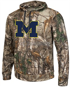 Michigan Wolverines Mens RealTree Camo Breech Synthetic Hoodie by Colosseum