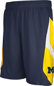 Michigan Wolverines Navy Embroidered Icon Shorts By Adidas