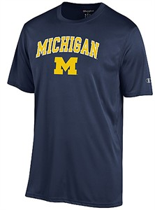 Michigan Wolverines Navy Vapor Dry Champion Powertrain Short Sleeve Tee Shirt