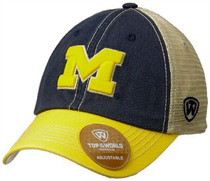 Michigan Wolverines Past Adjustable Trucker Mesh Adjustable Cap