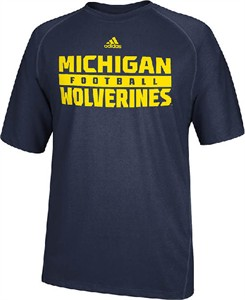 Michigan Wolverines Redzone Blue Climalite SS Shirt by Adidas