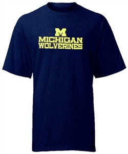 Michigan Wolverines Short Sleeve Tee By Majestic